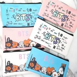 1x KPOP Candy Color aranyos BT21 BTS mintás  ceruza tok pénztárca neszeszer tolltartó