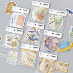 24db színes PVC matrica Scrapbooking DIY napló levélpapír dekoráció