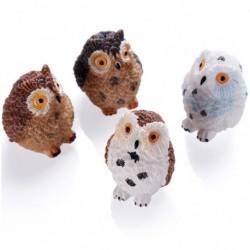 1x DIY miniatűr kert mikro táj dísz dekoráció dollhouse babaház kézműves kiegészítők bagoly