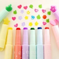 1x Kreatív színes kiemelők Tinta Fluoreszkáló bélyegző toll jelző iskola papíráru