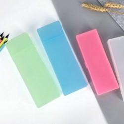 1x Kreatív átlátszó műanyag ceruza tok tolltartó neszeszer többfunkciós