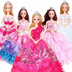 1x Gyönyörű kézzel készített ruha esküvői party ruha 29cm Barbie babához