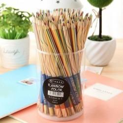 1db szivárvány ceruza 4 vegyes színes fából készült ceruza rajz