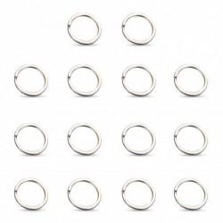14db rozsdamentes acél kulcstartó láncok gyűrű fém karika 25MM