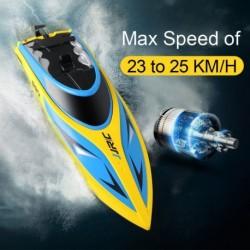 1x JJRC-S2 RC hajó 2,4 GHz távirányító nagy sebességű RC elektromos csónak sárga