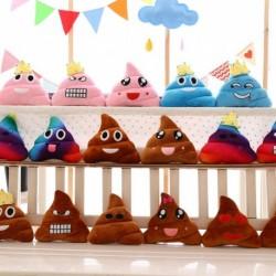 1x Színes Emoji kaki plüss játék párna otthoni lakberendezés dekoráció 25cm
