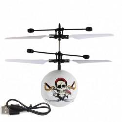 1x Gyermek repülő RC labda Led villogó könnyű repülőgép helikopter indukciós játék *Pirate