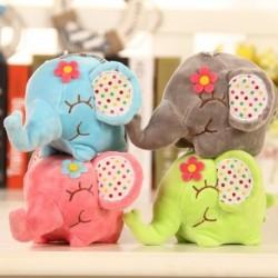 1x Mini Elephant Soft plüss játék Mini töltött állat baba gyerekek plüss játék
