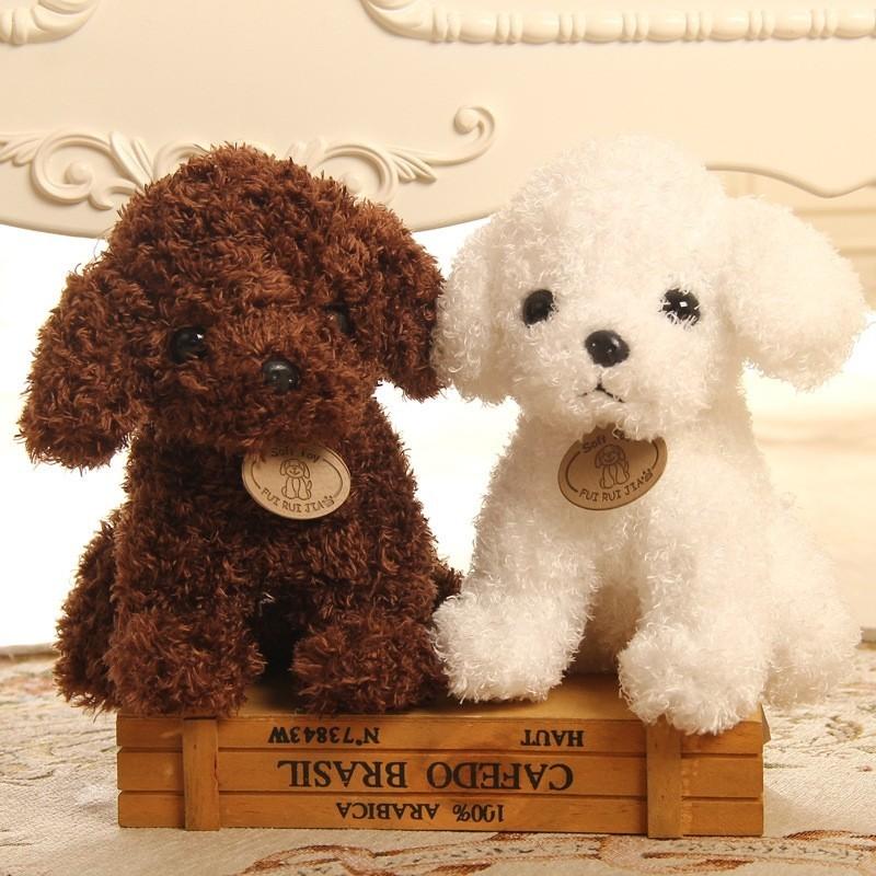 4c77cc998878 1x 18cm aranyos kutya plüss játék töltött kreatív kutya párna