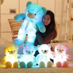 30cm színes világító LED medve töltött állat plüss játék