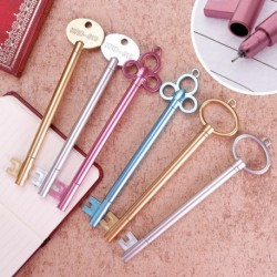 1x Kulcs alakú gél toll fekete tinta írószer