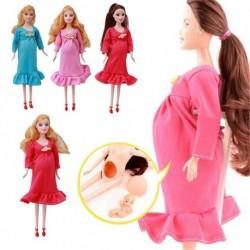 1x Boldog család terhes baba anya baba Barbie baba játék