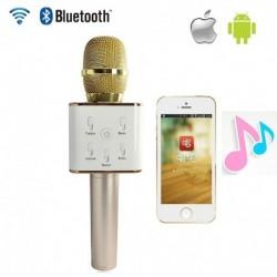 1x Q7 kézi KTV mikrofon vezeték nélküli Bluetooth Karaoke Mic hangszóró lejátszó