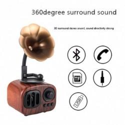 1x Vintage Mini Bluetooth hangszóró 3D sztereó térhatású HiFi hanghatás zenelejátszó