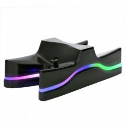 1x PS4 vezérlő színes LED töltőállvány DC 5V Gyors töltő dokkoló állomás PS4 vezérlőhöz