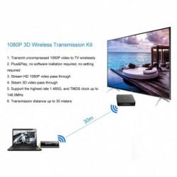 1x Measy W2H Mini2 60 GHz vezeték nélküli HDMI Extender 30M adóvevő 1080P videó audió adapter
