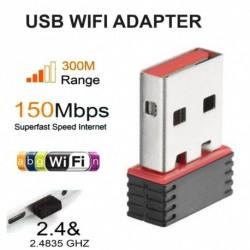 USB Wifi adapter Vezeték nélküli hálózati kártya Ethernet Antena Wifi vevő USB AC 2.4G PC Wi-Fi