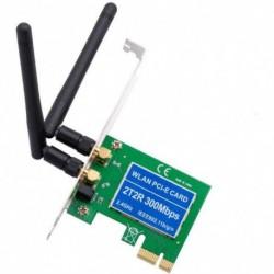 PCIE Express asztali beépített vezeték nélküli hálózati kártya 300Mbps wifi vevő adó kettős antenna