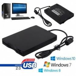 hordozható USB 2.0 külső floppy lemezmeghajtó 1,44MB laptophoz Win 7/8/10