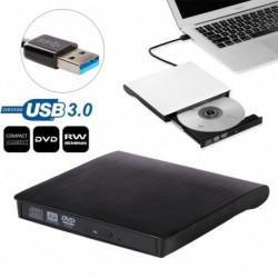 2018 Vékony külső USB 3.0 DVD RW CD író meghajtó író olvasó laptop számítógéphez