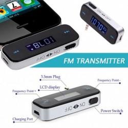 3,5 mm-es zene hang FM transzmitter Mini vezeték nélküli Autó autó MP3-adó