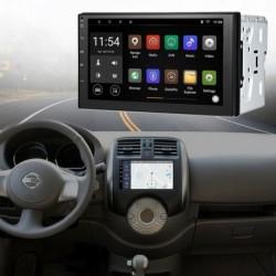 2-DIN Autó navigáció Stereo Dash rádió Bluetooth USB hátsó kamera Android 7.1