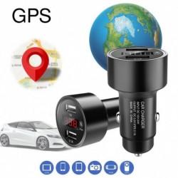 Autó GPS Tracker Locator valós idejű követés Device Kettős USB töltő Voltmérő
