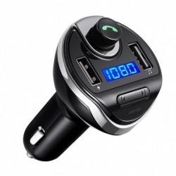 Autó készlet FM Bluetooth adó vezeték nélküli rádióadapter USB töltő