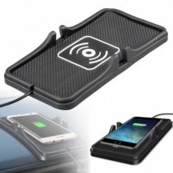 Qi vezeték nélküli töltő Autó tartó csúszásmentes Samsung S9 S8 iPhone X készülékhez