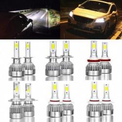 2db 9005/9006 / H7 / H11 / H4 72W LED fényszóró Hi / Lo készlet izzó 6000K fehér autó ködlámpa