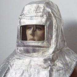 1x Alumínium fólia szigetelés sapka sugárvédelem tűzálló maszk magas hőmérséklet 700-1000 sisak