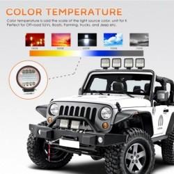 1 db 4 72W-os kerek LED-es munka lámpa Fényszóró offroad ATV teherautó Red Angel Eye