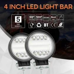 1db 4 hüvelykes 72W kerek LED-es munka  lámpa Fényszóró offroad ATV teherautó