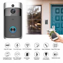 1x Intelligens vezeték nélküli ajtócsengő kamera WiFi távoli videó ajtó Intercom IR biztonsági