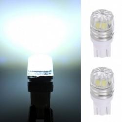 2db T10 5050 5SMD LED Autó jármű oldalsó hátsó lámpa izzó fehér