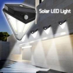 1x 84COB LED napelemes mozgásérzékelő lámpa vízálló kültéri kerti biztonsági fény