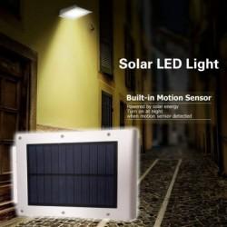 1x 72LED   COB napelemes lámpa házi kert vízálló lámpa kültéri mozgásérzékelő lámpa