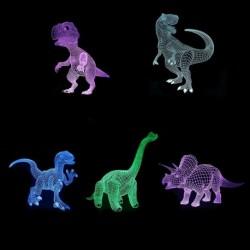 1x 3D dinó dinoszaurusz színváltós érintő LED asztali lámpa éjszakai világítás kreatív ajándék