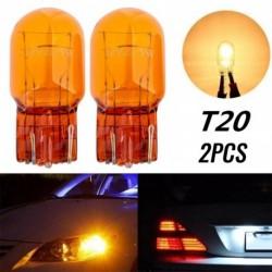 2db T20 halogénlámpa üveg nappali  világítás irányjelző stop fék hátsó lámpa izzó 7443 W21 / 5W