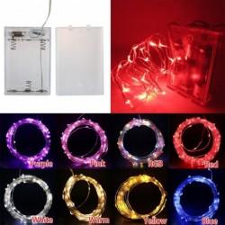 1x DC 4.5V akkumulátoros lámpa 10m 100 LED Izzó lápa Esküvői karácsonyi dekoráció