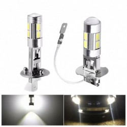 1db Autó lámpa H1 / H3 10SMD LED nagy teljesítményű köd nappali  izzó 5630 5730 Fényes Auto