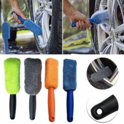 1 dbMikroszálas kerék gumiabroncs-kefe  mosótisztító gépkocsi SUV műanyag fogantyújával