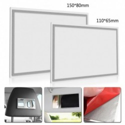1db Hordozható autó smink tükör belső nappali  rozsdamentes acél HD belső tükrök 110 * 65mm