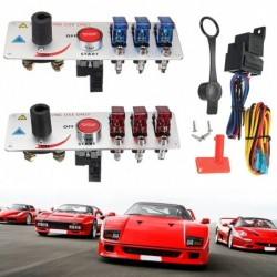 12V-os automata LED-es kapcsoló gyújtáskapcsoló panel versenyautó-motor indítás-nyomógomb készlet