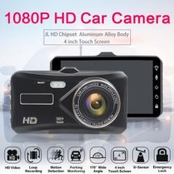 4Inch 1080P Autó DVR Dual Lens Touch Ccreen Dash Cam videokamera felvevő éjjellátó