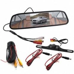 """4.3 """"Autó TFT LCD tolató tükrös kijelző és tolató biztonsági kamera"""