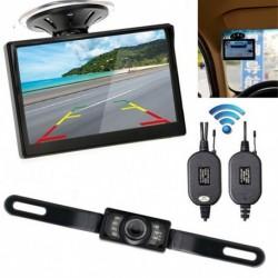 """4.3 """"monitor autó tolató rendszer biztonsági  Reverse Camera éjjellátó Kit Wireless"""