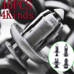 40Pcs 4 féle autó műanyag szegecs Bumper sárvédő rögzítő sárlapok Push klip Pin