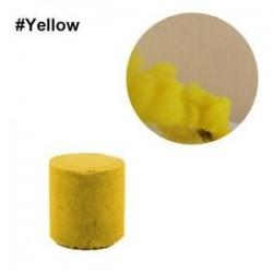 Sárga. Színes füst torta bomba kerek hatás megjelenítése mágikus fényképezés színpad támogatás játék új