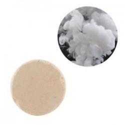 fehér. Színes füst torta bomba kerek hatás megjelenítése mágikus fényképezés színpad támogatás játék új